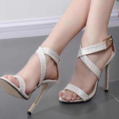 Open Toe Straps Cross Ankle Wraps S..