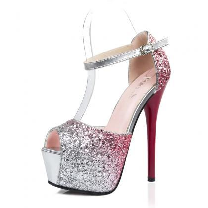 Gradient Crystal Shinning Ankle Wra..