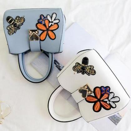 Korean Style Butterfly Embroidery W..