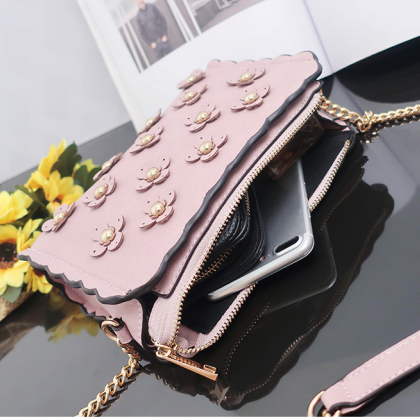 Causal Floral Decoration Crossbody ..