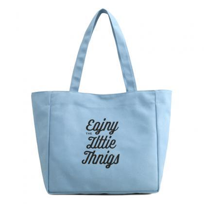 Enjoy The Little Things Canvas Tote..