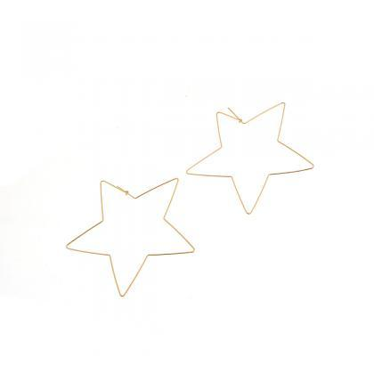 Sexy Star Peach Heart Earrings