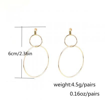 Bronze Personality Lucky 8 Earrings