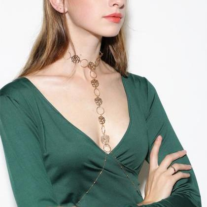 Sexy Hollow Out Rose Body Chains