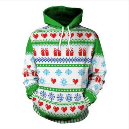 Snow 3D Digital Print Women Hooded ..