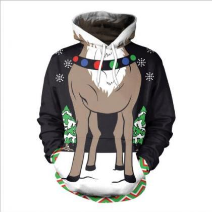 Colorful 3D Reindeer Digital Print ..