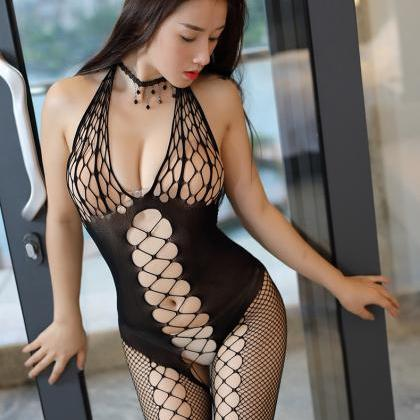 Sexy Backless Lace Hollow Club wear..