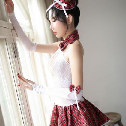 Sexy Lace Student's dress /Sailor s..
