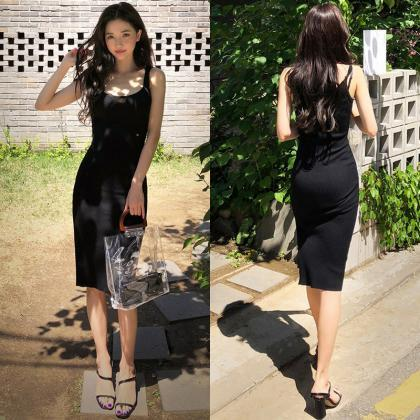 Sexy Cut out fork Bodycon Long Dres..