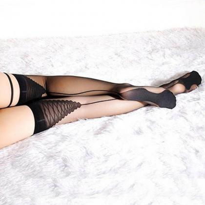 Women Sexy Thigh High Stockings Lad..