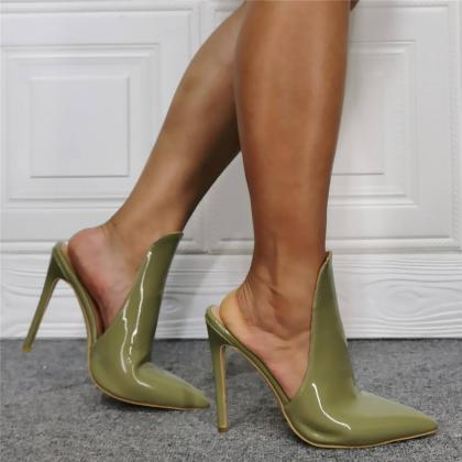 Green Patent Leather Point Toe High..