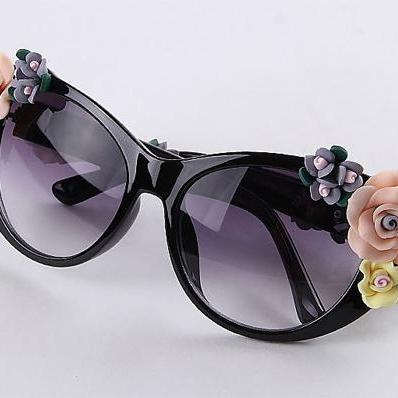 Hot Fashion Retro Vintage Shades Wo..