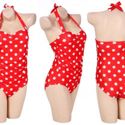 Polka Dot One Piece Bikini