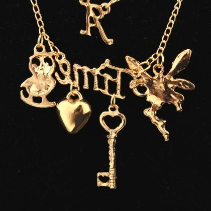 Delicate Women's Key Heart Necklace