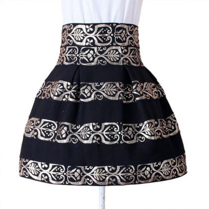 Fashion Women's High Waist Black St..