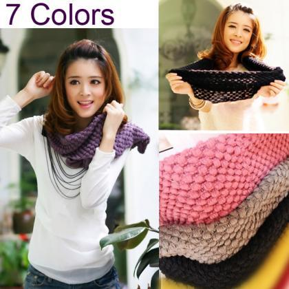 Women's Knit Neck Cowl Wrap Warmers..