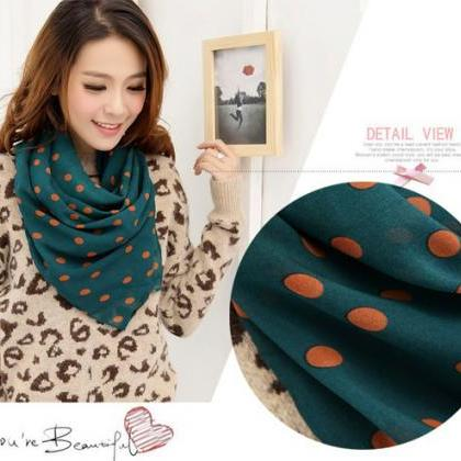 Lady Dots Spot Chiffon Soft Shawl S..