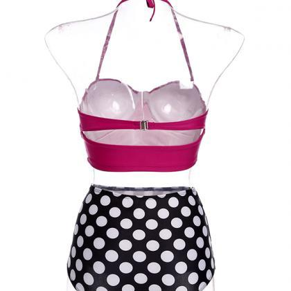High-waist Polka Dot Bikini Set