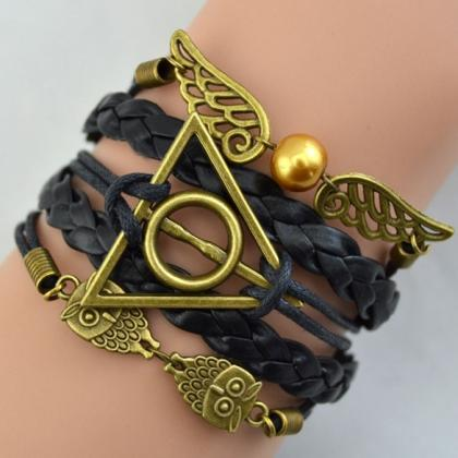 Synthetic Leather Bracelet Snitch A..