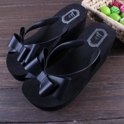 Ladies Summer Platform Flip Flops T..