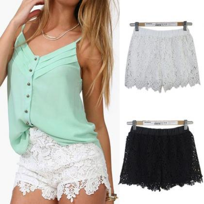 Lace Elastic High Waist Sport Hot S..