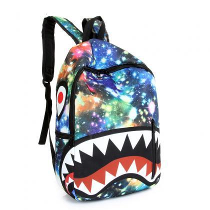 Starry Sky Shark Print Chic Travel ..