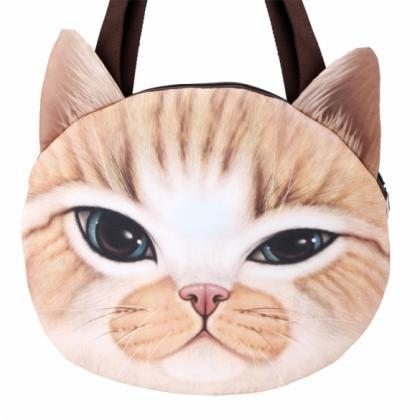 Cat Faced Shoulder Bag