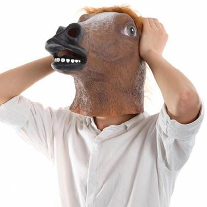 New Creepy Horse Mask Head festival..