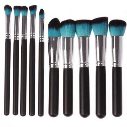 Hot 10pcs Makeup Brushes Tools Foun..