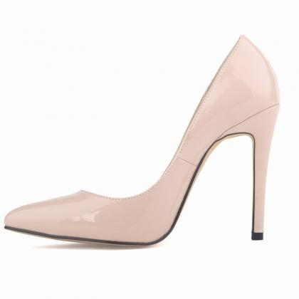 Patent Leather Pointed-Toe High Hee..