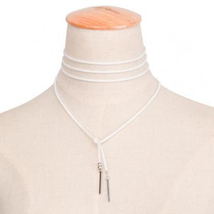 Lint Copper Stripe Simple Necklace