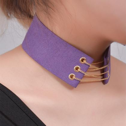 Wide Lint Belt lady's Collars Neckl..