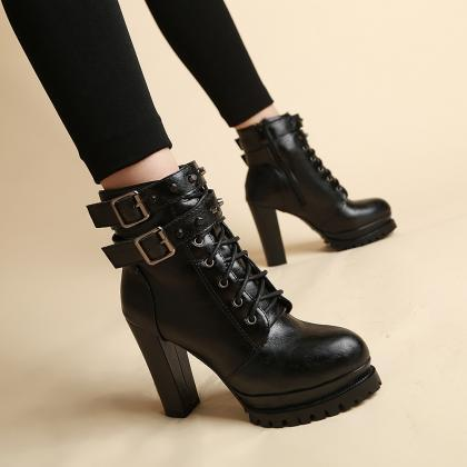 Round Head Ankle Strap Rivet Short ..