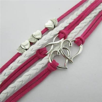 Retro Heart Hand-made Leather Cord ..
