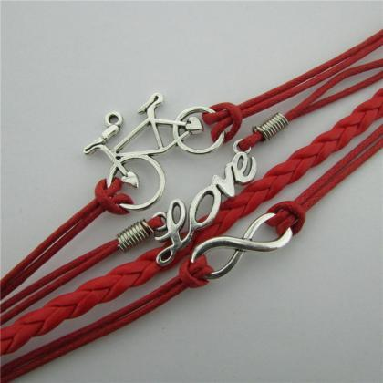 LOVE Bike Hand-made Leather Cord Br..