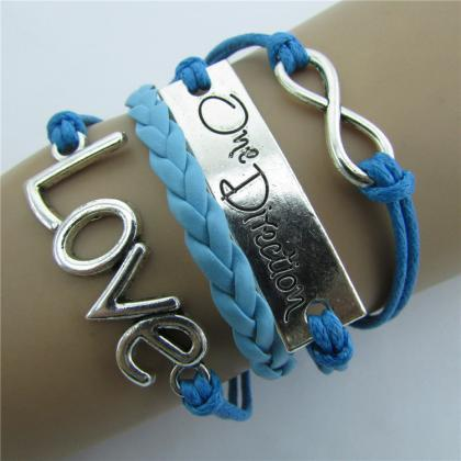 Romantic LOVE Leather Cord Bracelet
