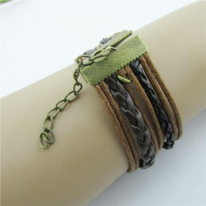 Retro BESTFRIEND Multilayer Woven B..