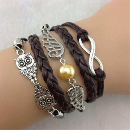 Black Owl Wings Fashion Multilayer ..