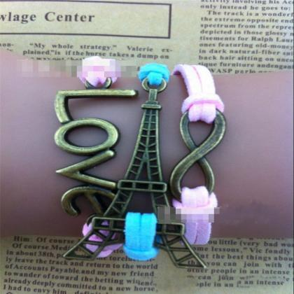 Eiffel Tower Love Wax String Woven ..