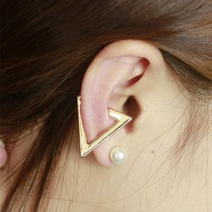 Exaggerate Triangle Ear Clip Earrin..