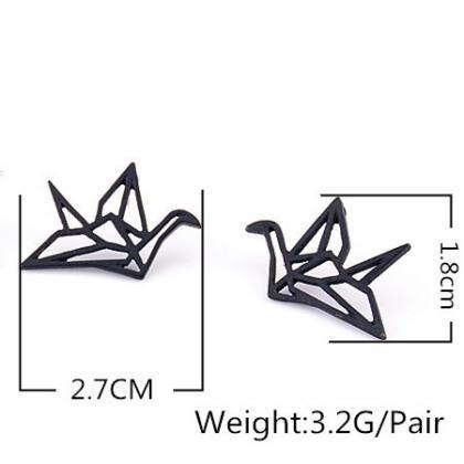 Hollow Out Papercranes Sweet Earrin..