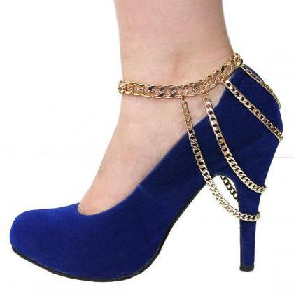 Punk Style Metal Chain Anklet