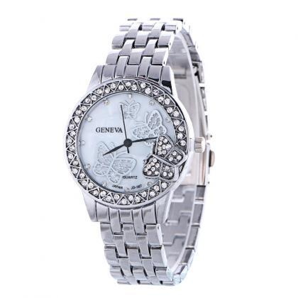 Fashion Butterfly Crystal Alloy Wat..