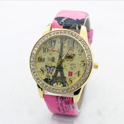 Hot Sale Butterfly Print Watch