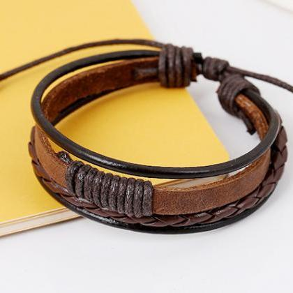 Personality Woven Multilayer Bracel..