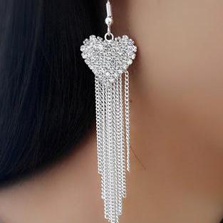 Exaggerated Crystal Tassels Party E..