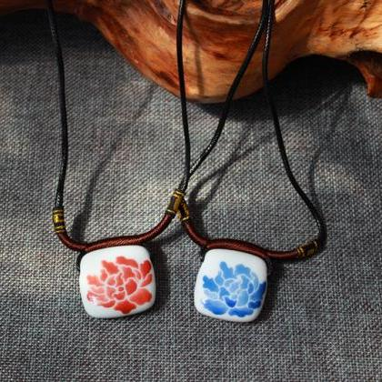 Fambe ceramic beads Long Necklace