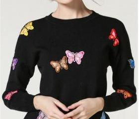 Long Sleeves Butterf..