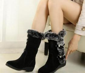 Round Toe Fur Decora..
