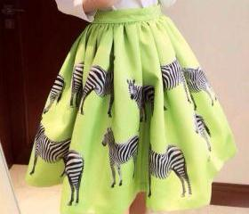 Green Zebra Printed ..